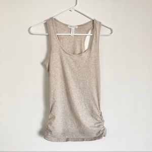 Activewear Tank Top with Ruched Sides Small